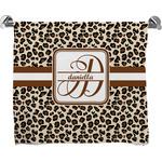 Leopard Print Full Print Bath Towel (Personalized)