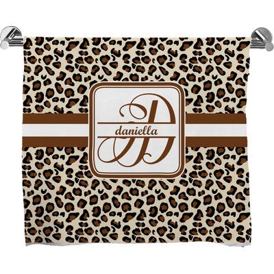 Leopard Print Bath Towel (Personalized)