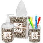 Leopard Print Bathroom Accessories Set (Personalized)