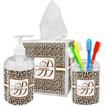 Leopard Print Acrylic Bathroom Accessories Set w/ Name and Initial