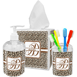 Leopard Print Bathroom Accessories Set (Personalized)