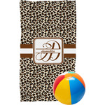 Leopard Print Beach Towel (Personalized)