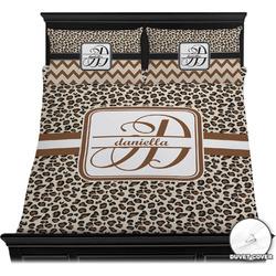 Leopard Print Duvet Cover Set - Full / Queen (Personalized)