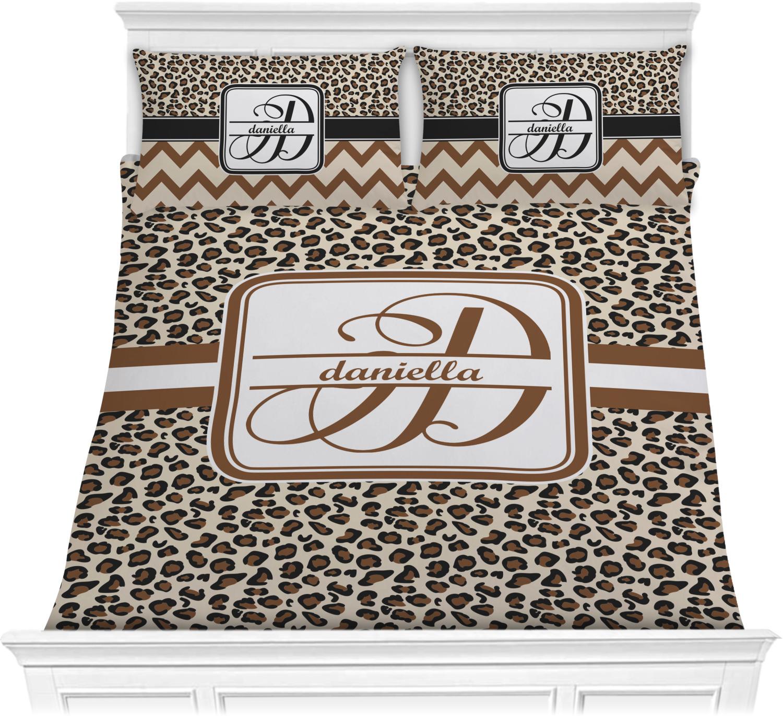 Leopard print comforter set full queen personalized youcustomizeit - Cheetah print queen comforter set ...