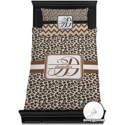 Leopard Print Duvet Cover Set - Twin (Personalized)