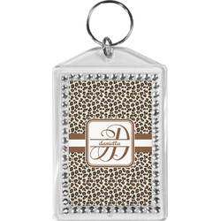 Leopard Print Bling Keychain (Personalized)
