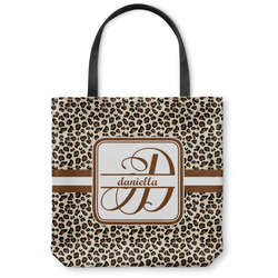 Leopard Print Canvas Tote Bag (Personalized)