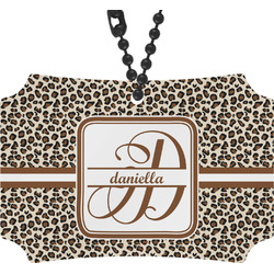 Leopard Print Rear View Mirror Ornament (Personalized)