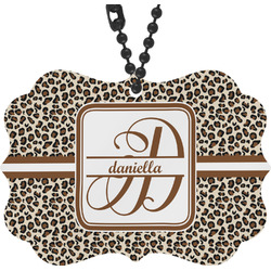 Leopard Print Rear View Mirror Charm (Personalized)