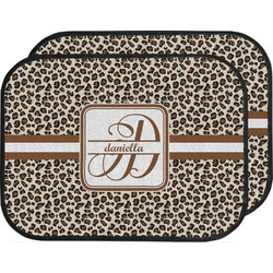 Leopard Print Car Floor Mats (Back Seat) (Personalized)