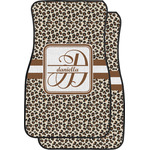 Leopard Print Car Floor Mats (Front Seat) (Personalized)