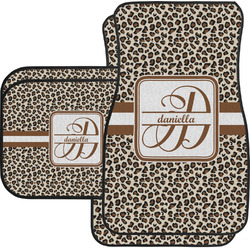 Leopard Print Car Floor Mats Set - 2 Front & 2 Back (Personalized)