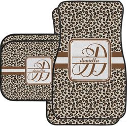 Leopard Print Car Floor Mats Set - 2 Front & 2 Back (Personalized)