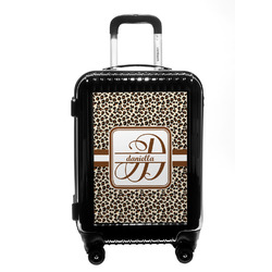 Leopard Print Carry On Hard Shell Suitcase (Personalized)
