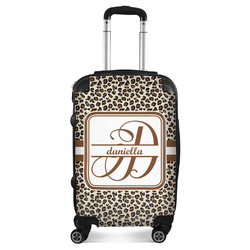 """Leopard Print Suitcase - 20"""" Carry On (Personalized)"""