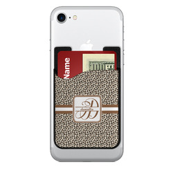 Leopard Print 2-in-1 Cell Phone Credit Card Holder & Screen Cleaner (Personalized)
