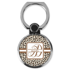 Leopard Print Cell Phone Ring Stand & Holder (Personalized)