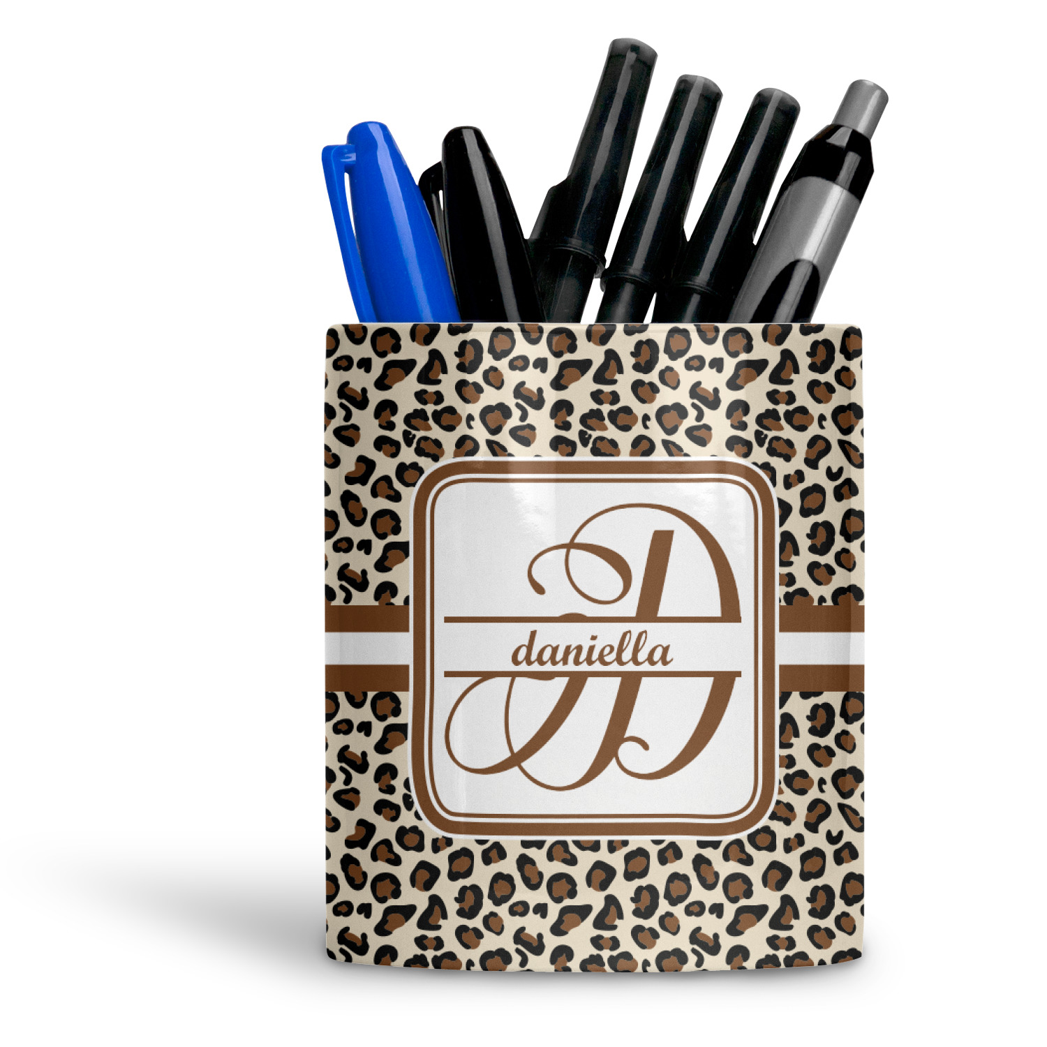 Leopard Print Ceramic Pen Holder