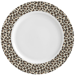Leopard Print Ceramic Dinner Plates (Set of 4) (Personalized)