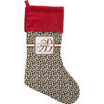 Leopard Print Christmas Stocking (Personalized)