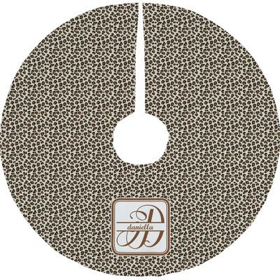 Leopard Print Tree Skirt (Personalized)
