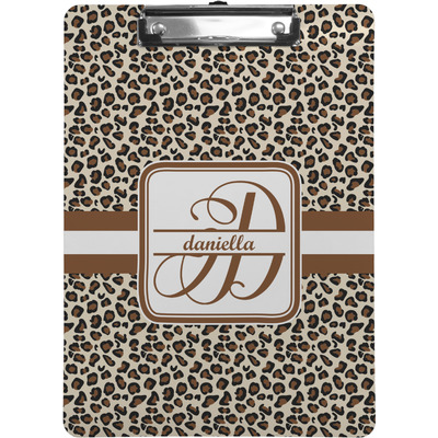 Leopard Print Clipboard (Personalized)