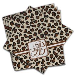 Leopard Print Cloth Napkins (Set of 4) (Personalized)
