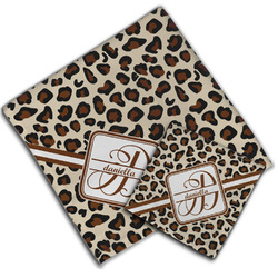 Leopard Print Cloth Napkin w/ Name and Initial