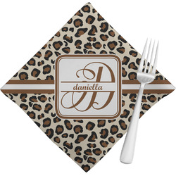 Leopard Print Napkins (Set of 4) (Personalized)