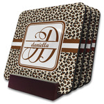 Leopard Print Coaster Set w/ Stand (Personalized)