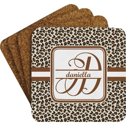 Leopard Print Coaster Set (Personalized)