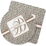 Leopard Print Rubber Backed Coaster (Personalized)