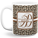 Leopard Print 11 Oz Coffee Mug - White (Personalized)