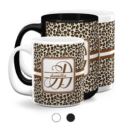 Leopard Print Coffee Mugs (Personalized)
