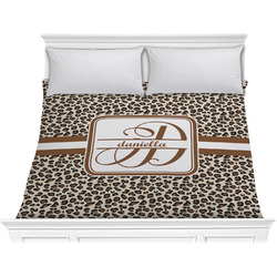 Leopard Print Comforter - King (Personalized)