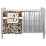 Leopard Print Crib Comforter / Quilt (Personalized)