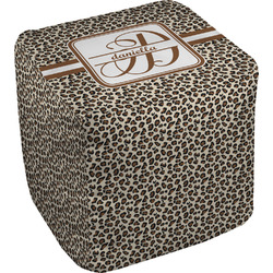Leopard Print Cube Pouf Ottoman (Personalized)