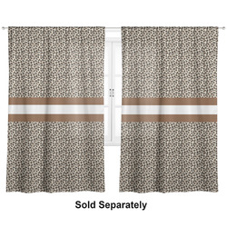 "Leopard Print Curtains - 20""x84"" Panels - Lined (2 Panels Per Set) (Personalized)"