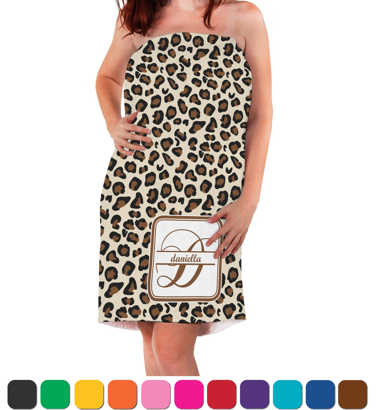 Leopard Print Bath Wrap Personalized Youcustomizeit