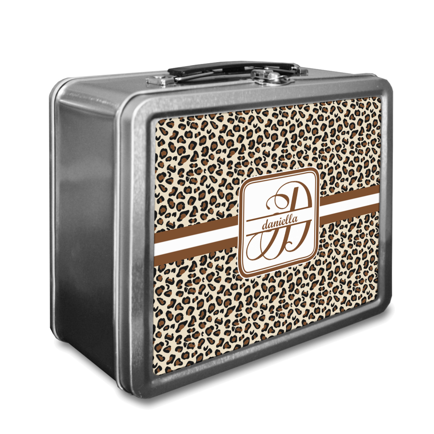 Leopard Print Lunch Box Personalized