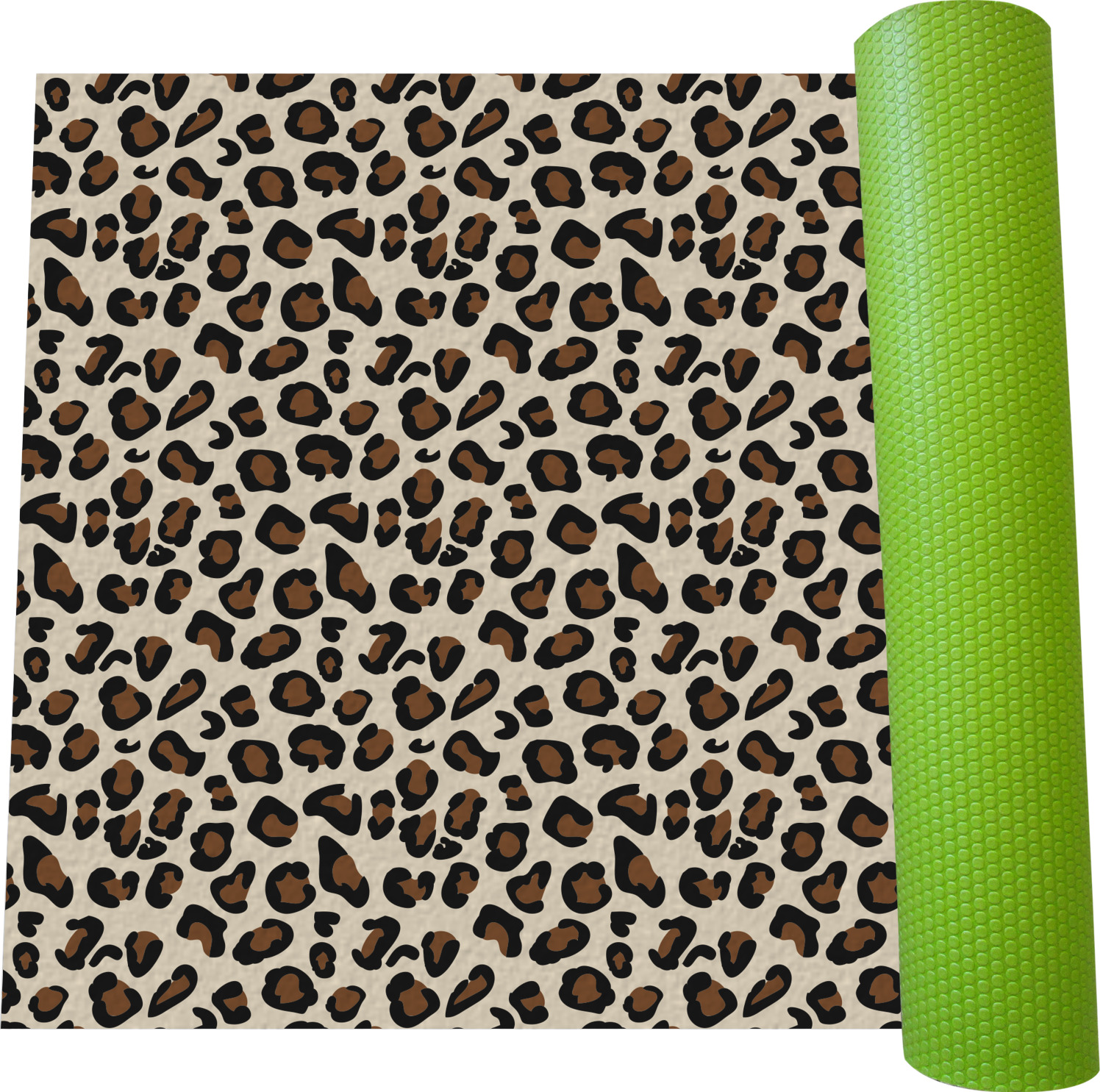 Leopard Print Yoga Mat Personalized Youcustomizeit