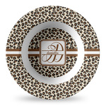Leopard Print Plastic Bowl - Microwave Safe - Composite Polymer (Personalized)