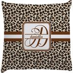 Leopard Print Decorative Pillow Case (Personalized)