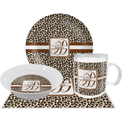 Leopard Print Dinner Set - 4 Pc (Personalized)