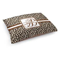 Leopard Print Dog Bed - Medium w/ Name and Initial