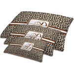 Leopard Print Dog Bed w/ Name and Initial