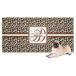 Leopard Print Pet Towel (Personalized)