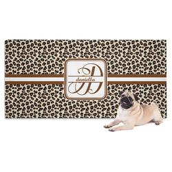 Leopard Print Pet Towel (Personalized)
