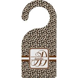 Leopard Print Door Hanger (Personalized)