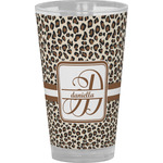 Leopard Print Drinking / Pint Glass (Personalized)